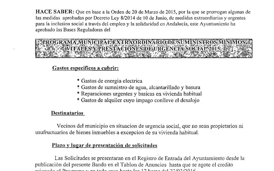 PROGRAMA DE SUMINISTROS MÍNIMOS VITALES 1