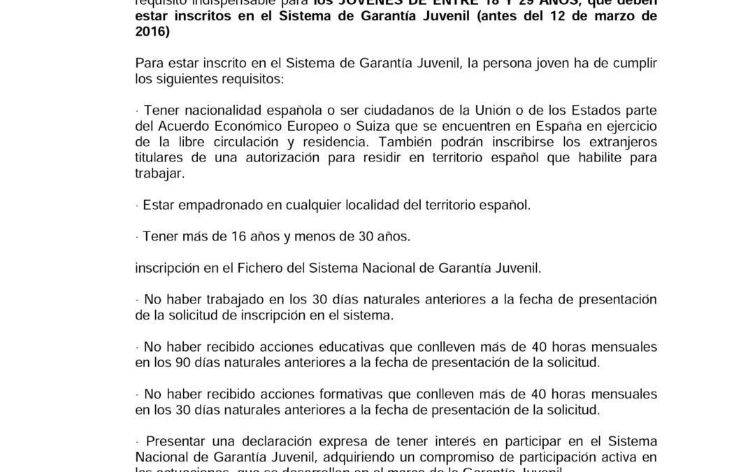 """BANDO """"INICIATIVA DE COOPERACIÓN SOCIAL Y COMUNITARIA EMPLE@JOVEN Y EMPLE@30+"""" 1"""