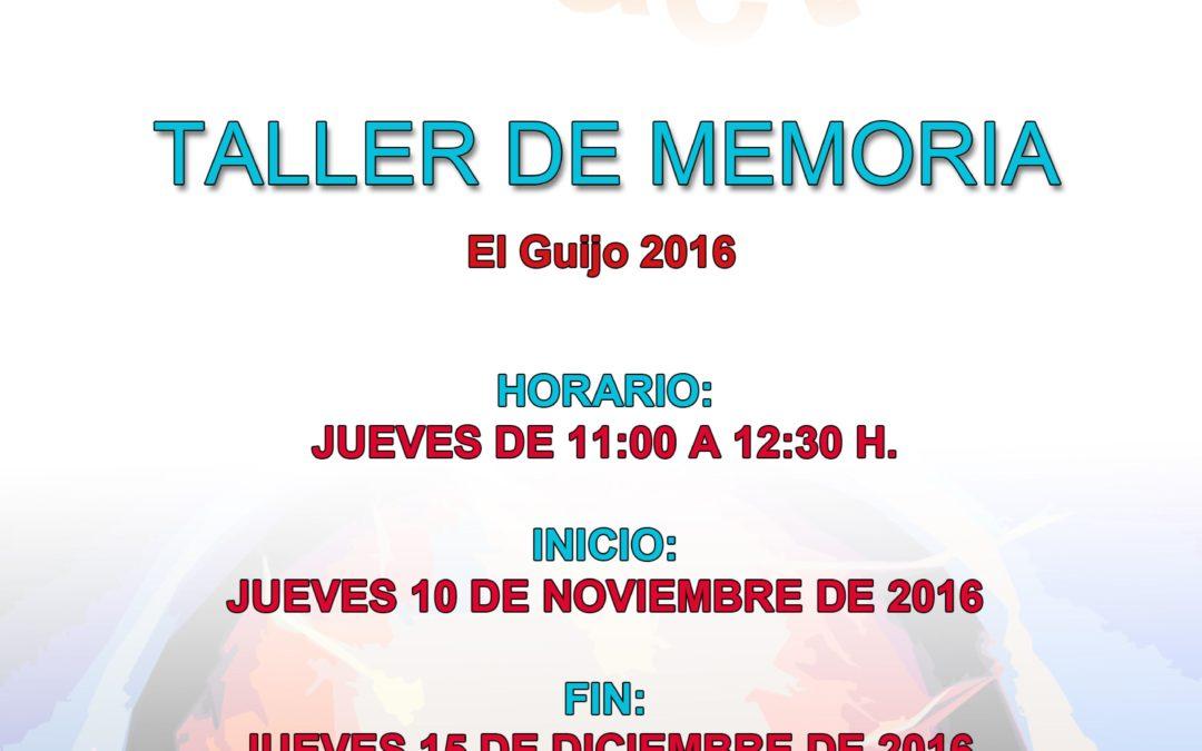 TALLER DE MEMORIA 1